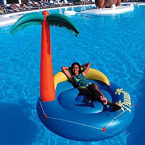Badeinsel PALMBEACH BANANA CRUSH blau Ø ca. 165 cm aufgeblasen - Summertime: Sommerzeit ist Badezeit