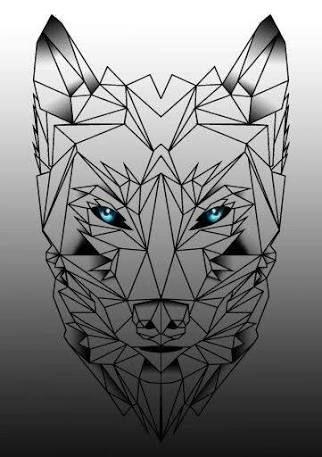 Resultado de imagen para geometric wolf tattoo
