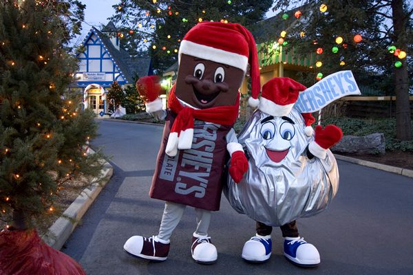 Hershey Park in Pennsylvania at Christmas time.  So much fun!!  Got to spend many a day enjoying all the festivities when we lived in PA.