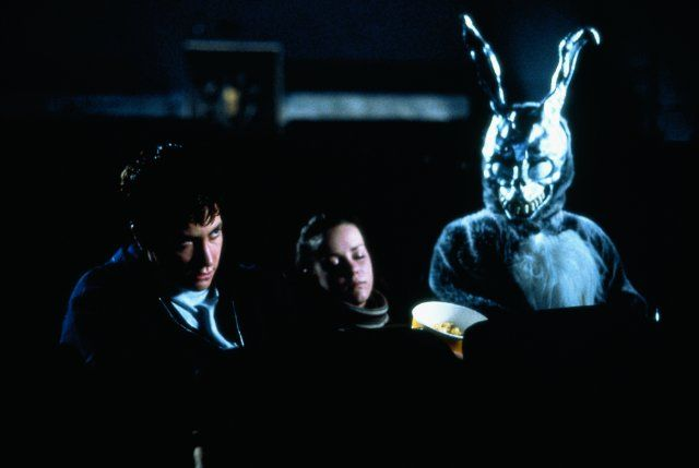 Donnie Darko (2001). By Richard Kelly, with Jake Gyllenhaal, Jena Malone and Mary McDonnell. --  Sci-fi film about time travel paradoxes. Good cast and soundtrack.