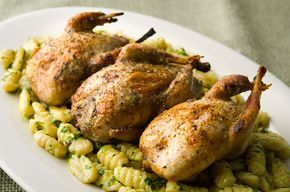 How to roast a quail so it doesn't dry out. This recipe works with both store-bought and wild quail.