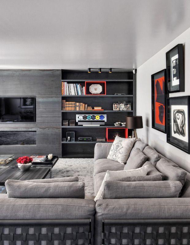 Ideias Para Sala De Estar Moderna ~ ideias de Salas De Estar Modernas no Pinterest  Decorações de sala
