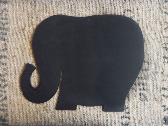 Large Elephant Shaped Chalkboard for Kids Parties or by ChalkStyle, $18.00