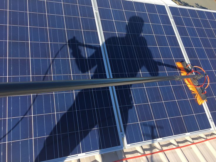 Morning solar panel cleaning in Woody Point!