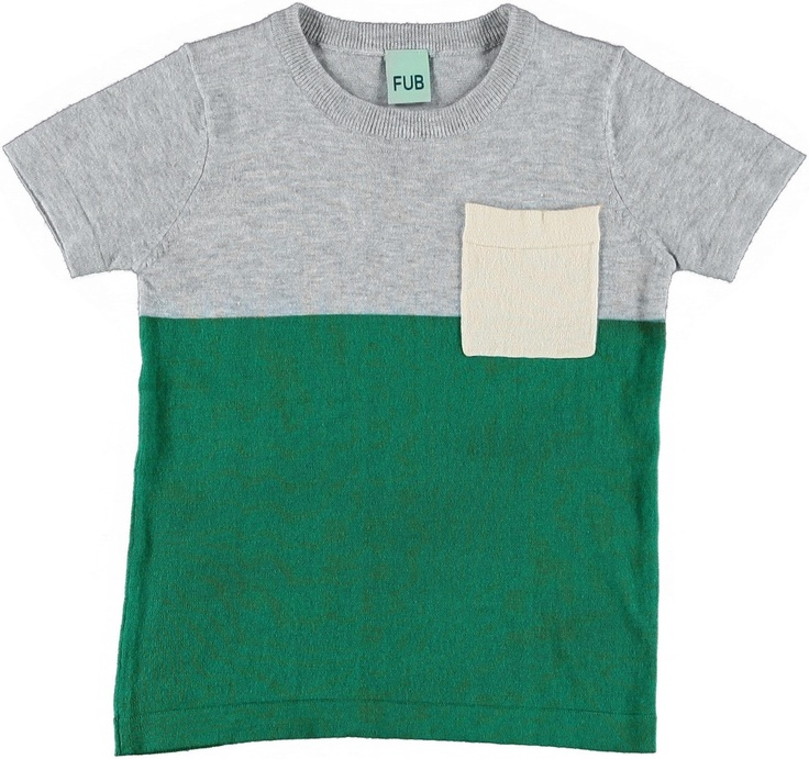 shop online mirtilla.eu T-shirt Verde e Grigia - FUB