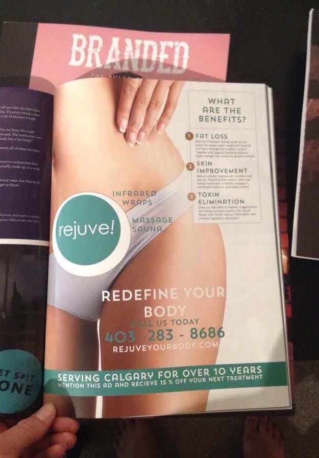 Loved helping favourite long time friends and client Rejuve! make it into hot new #yyc mag Branded   The page couldn't look better, so happy! http://www.rejuveyourbody.com