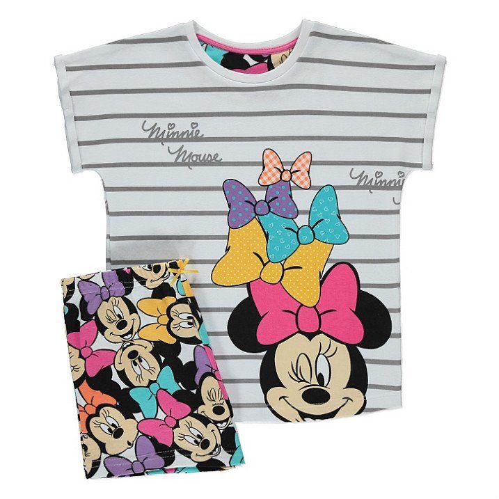 Lasten Disney Minni Hiiri shortsipyjama
