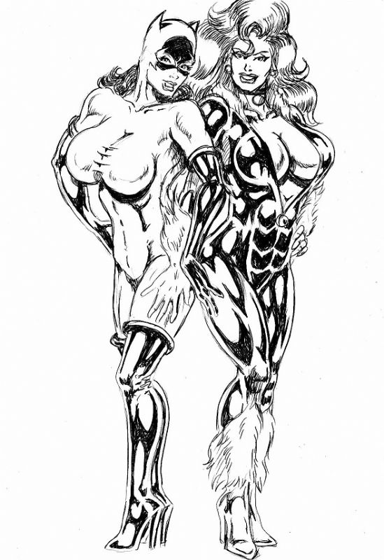 Black Cat & Catwoman_005 Comic Art