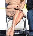 Oddly Appealing: Jennifer Lopez's Super-Shiny Legs