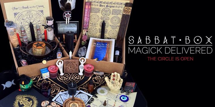 The Rumors are true...finally, a subscription box for Pagans & Wiccans. Sabbat Box - a magically curated box shipped to you in time for each sabbat! The circle is open! www.sabbatbox.com #wicca #witchcraft #paganism #witchy #Wheeloftheyear #Sabbats #SabbatBox