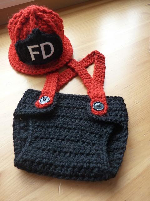 Newborn Firefighter Set by Cricket Creations, LOOOOVE :)