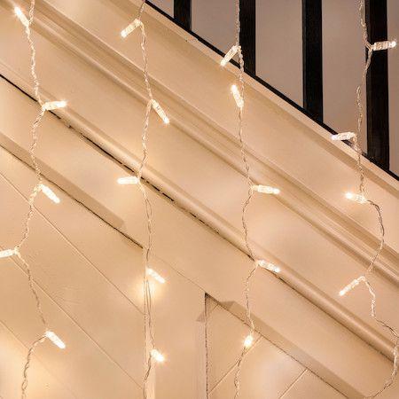 96er LED Lichtervorhang warmweiß 2m x 1m