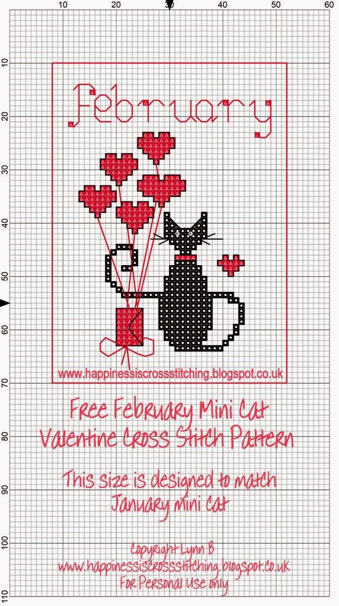 La felicidad es el punto de cruz: Mini Cross Stitch Cat Freebies