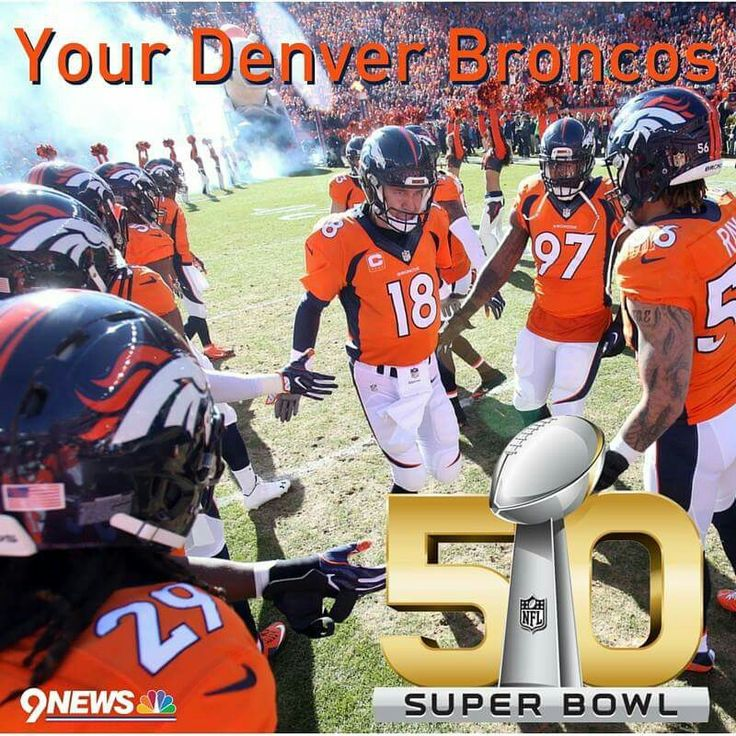 Denver Broncos are playing in Super Bowl 50!