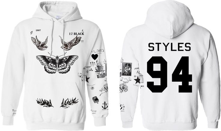 Limited Styles Tattoo's White Hoodie.