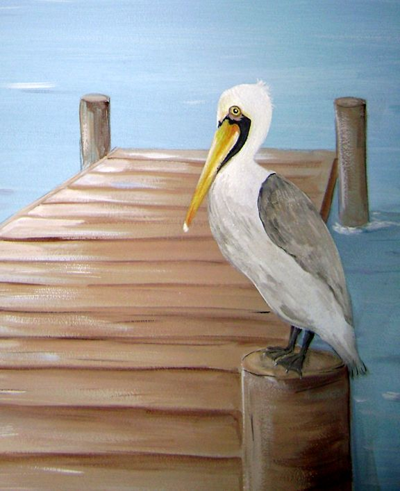 Children's Murals -  Race boat Nautical Theme- Pelican