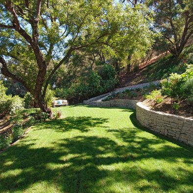 Landscape idea for a steep backyard