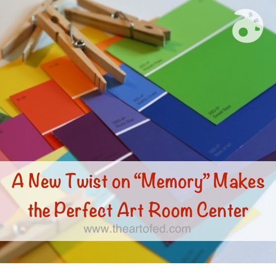 """A New Twist on """"Memory"""" Makes the Perfect Art Room Center"""