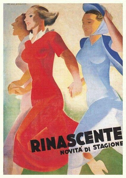 Marcello-Dudovich-Rinascente-NOVITÀ-DI-STAGIONE-1940
