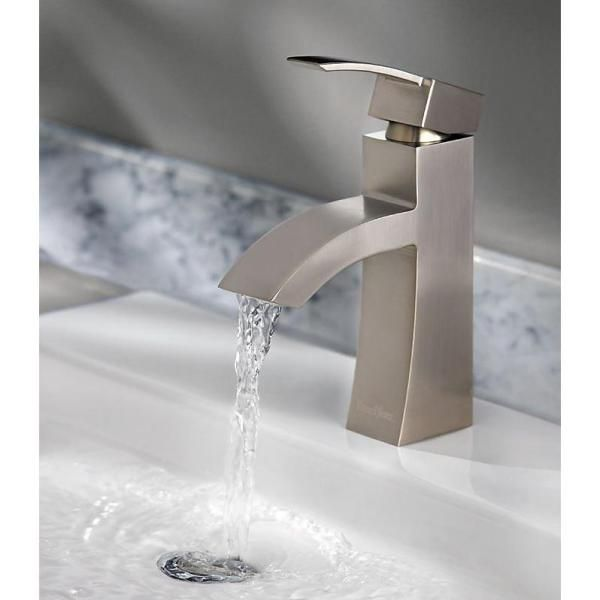 The brushed nickel finish and waterfall spout give this Bernini Collection  bathroom faucet a modern look. 17 Best images about Bathroom Design Ideas on Pinterest   Toilets
