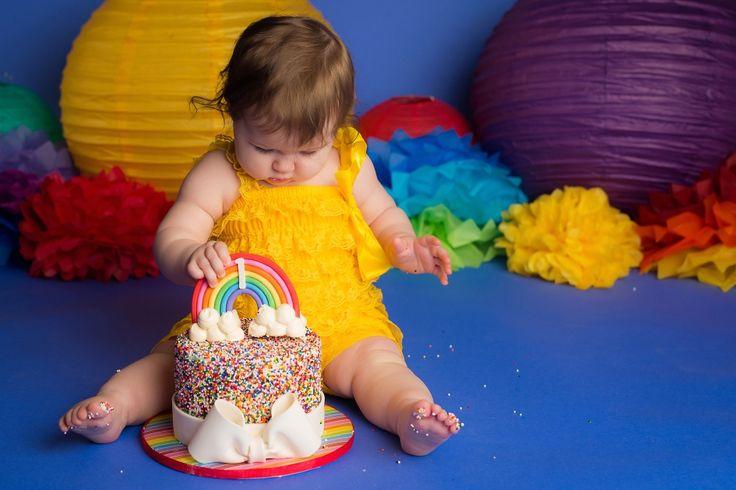 Nicole+Israel+Photography+Rainbow+Cake+Smash