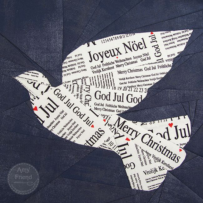 Dove block, paper piecing pattern, by Amy Friend   During Quiet Time