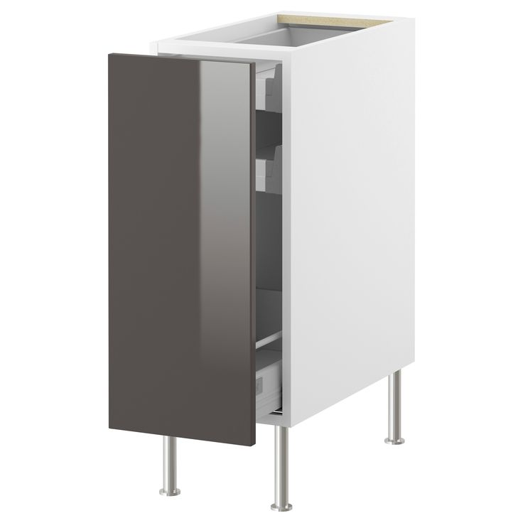 Akurum Base Cabinet With Pull Out Storage White