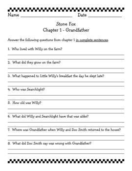 Printables Stone Fox Worksheets 1000 ideas about stone fox on pinterest charlottes web cause teacher created literature study that include 19 pages of comprehension questions vocabulary and activities more stone