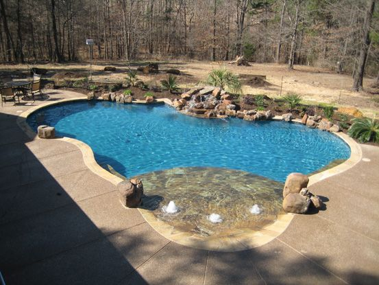 How To Design A Pool deck skirting ideas also fiberglass pool slide in light Custom Pool Designs Swimming Pool Builders East Texas Longview Texas Tyler Texas