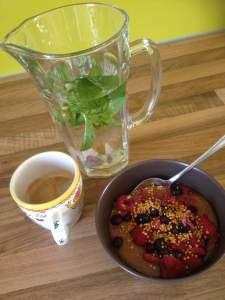 Amarant-pap met bosvruchten #ontbijt #deterramanier #recepten
