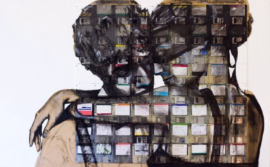 ECO ART: Nick Gentry's Expressive Floppy Disk Paintings ...