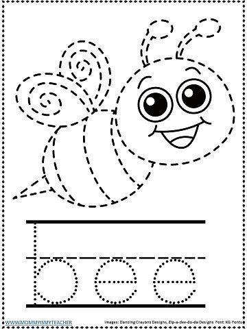 Bee Worksheets For Kindergarten