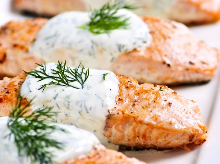 • SALMON WITH LEMON, BUTTER & DILL • Preheat oven to 350ºF. Lightly grease a medium baking dish. Place 1 pound salmon fillets in the baking dish. Drizzle 1/2 to 1 jar of norman bishop lemon butter and dill sauce over the salmon. Season with 1/4 tsp garlic powder, sea salt & freshly ground black pepper to taste. Bake 25 minutes in the preheated oven, or until salmon is easily flaked with a fork.