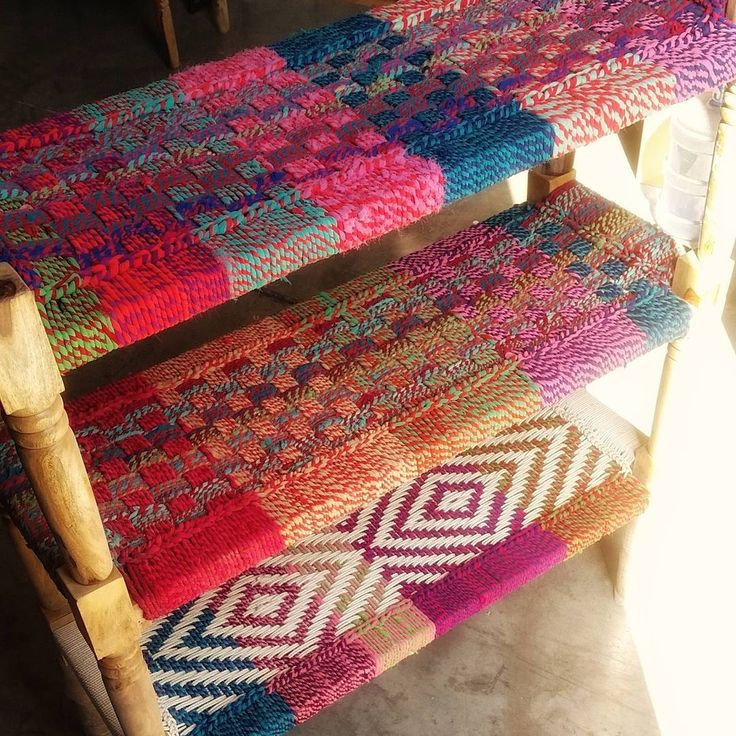 Just the right season to pick up a colourful charpai... made of cotton and recycled sarees, we got them in various colour combinations  #colourful #furniture #charpai #bench #stool #upcycled #recycled #Dubai #AbuDhabi #UAE #homedecor #interiors #theatticdubai