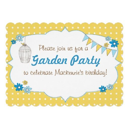Best Garden Party Images On   Invitations Invitation