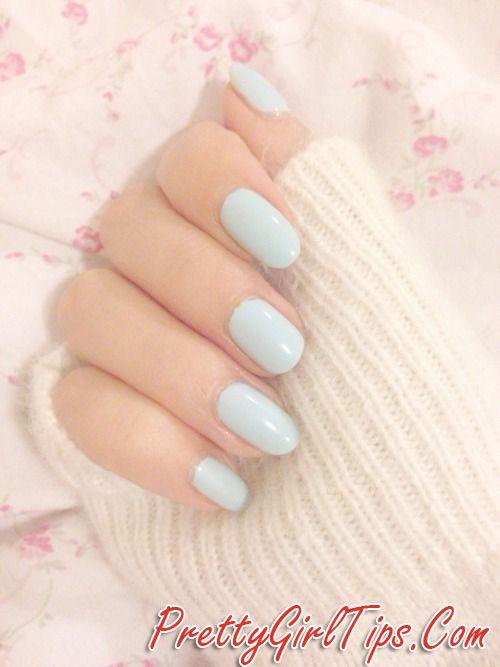 @prettygirltips Light Blue Nails