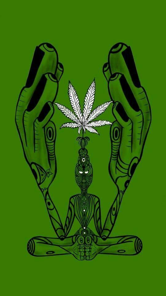 Meditation Marijuana Art - CannabisTutorials.com