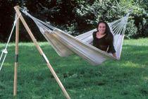 DIY hammock stand for the beach?!