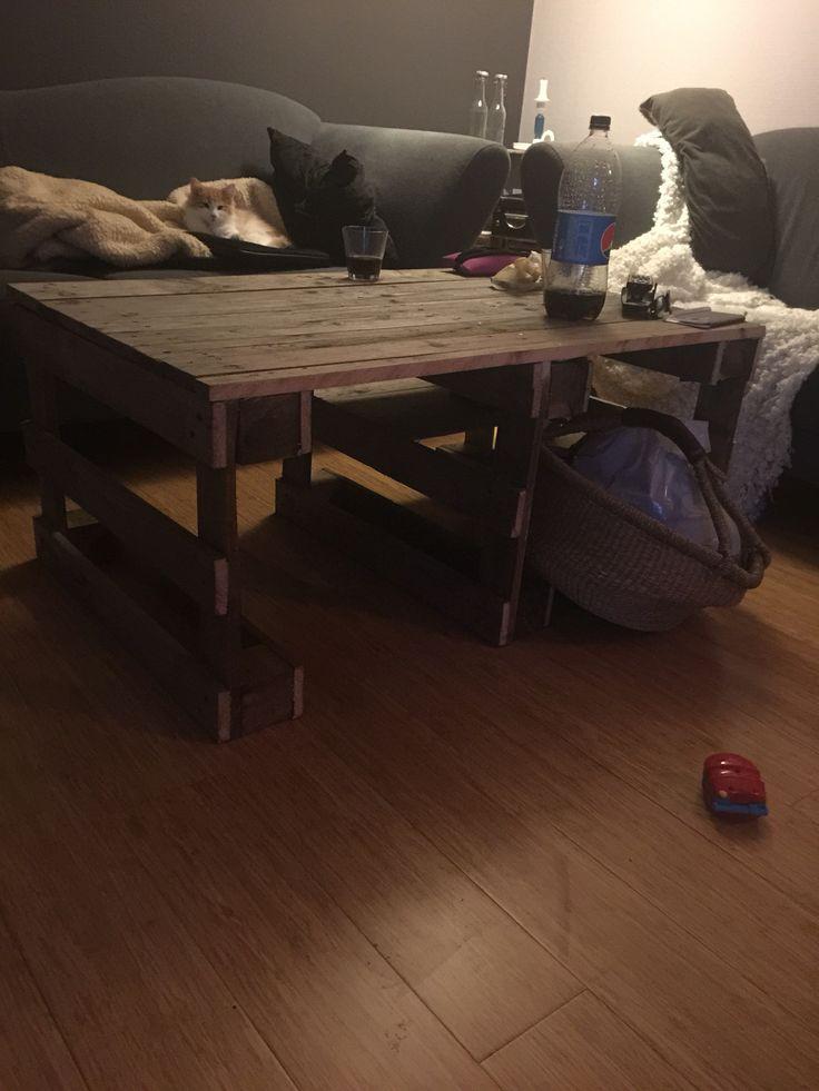 Stuebord lavet af paller