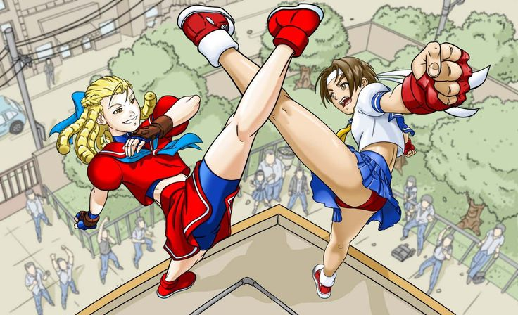 sakura vs karin street fighter tribute entry by rannk