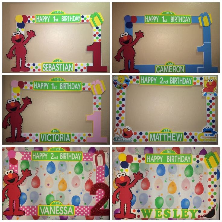 Photo Booth Frame To Take Pictures Sesame Street Elmo Birthday in Home & Garden, Greeting Cards & Party Supply, Party Supplies | eBay