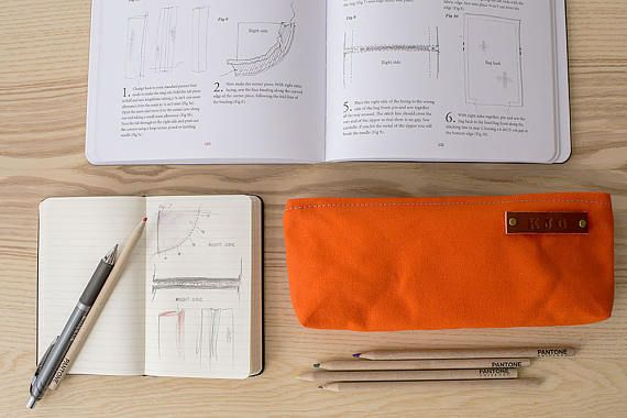 Modern Coup Stock Pouch Optional Personalization) - Orange