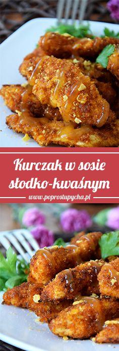 Mega chrupiący kurczak w sosie słodko-kwaśnym :) Pomysł na jutrzejszy obiadek <3  #poprostupycha #kurczak #obiad