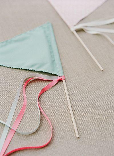sweet DIY pennant flags for a joyful exit | Melissa Schollaert #wedding
