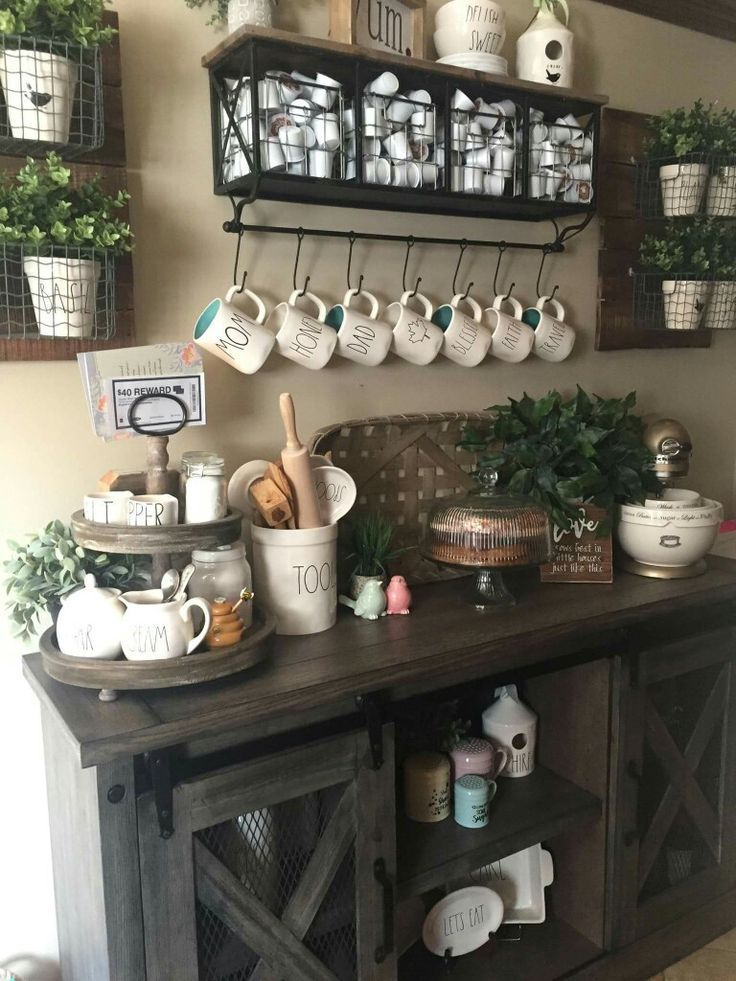 888 best farmhouse coffee bars images on pinterest my house bedrooms and coffee corner. Black Bedroom Furniture Sets. Home Design Ideas