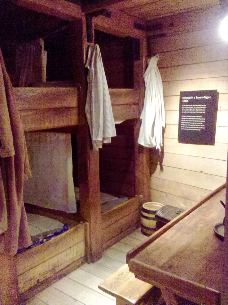 Replica of steerage accommodation on 1840s immigrants ship @ Immigration Museum in #Melbourne