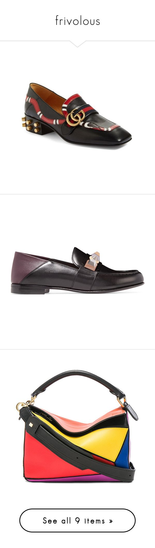 """""""frivolous"""" by beat-bop ❤ liked on Polyvore featuring shoes, loafers, black, leather footwear, snake leather shoes, black loafer shoes, leather loafer shoes, real leather shoes, black leather loafers and leather loafers"""