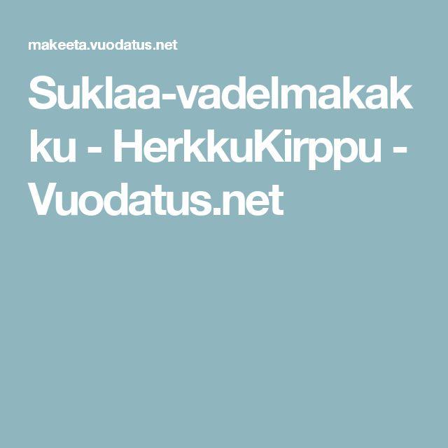 Suklaa-vadelmakakku - HerkkuKirppu - Vuodatus.net