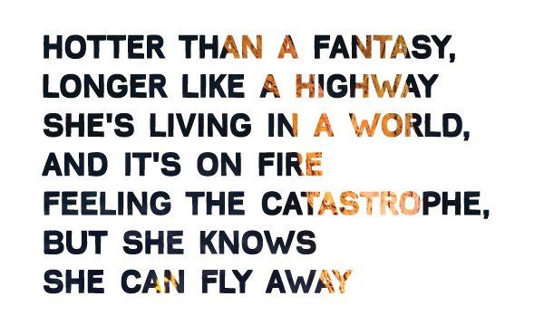 Alicia Keys Girl on Fire lyrics.