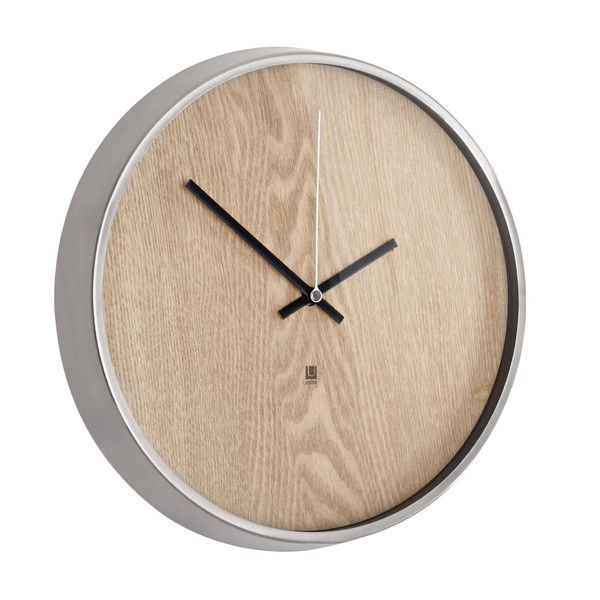 "Umbra Madera 12.75"" Wall Clock & Reviews 